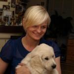 Golden retriever puppies from Moondust Masterpiece and Panda Astra litter TULIP LEGEND BASTETA